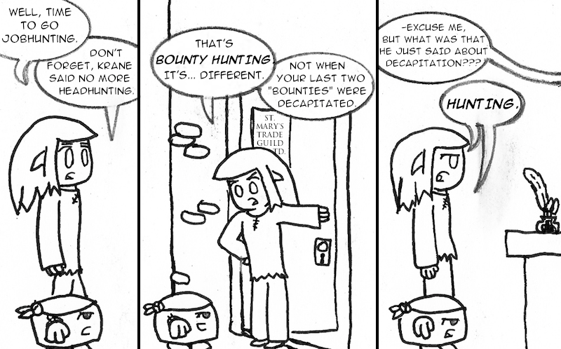 """How many times can I use the word """"Hunting"""" in one strip?"""
